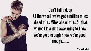 Justin Bieber - Don't Give Up (Lyrics)
