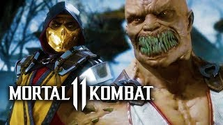 Mortal Kombat 11 First Official Gameplay Reveal - Scorpion vs Baracka | MK11 Reveal Event