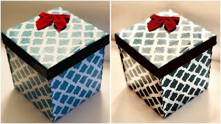 DIY GIFT BOX / GIFT BOX SURPRISE / CARDBOARD GIFT BOX / VALENTINES GIFT BOX  / GIFT BOX IDEAS (EASY)