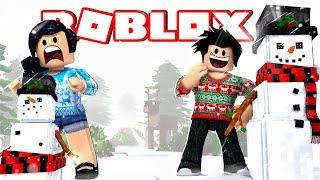 QUEM FAZ O MELHOR BONECO DE NEVE? ☃️ - Roblox (Snowman Simulator)