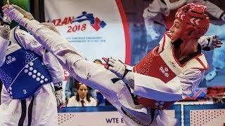 Eleftherios Fakinos (GRE) vs Valeriy Shimanov (RUS). European Taekwondo Championships Kazan-2018