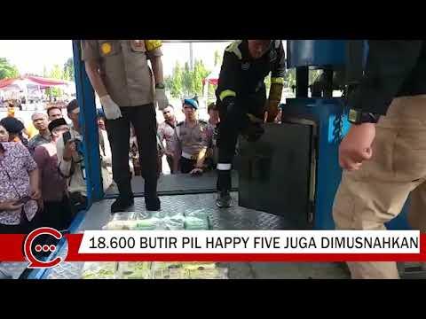 29,58 Kg Sabu-Sabu Dimusnahkan di Halaman Kantor Gubernur Riau