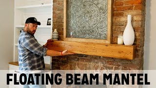 REAL Barn Wood Beam Mantel