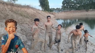 Enjoy Boys Playing In The Mud In Real Life And Backflip - How To Playing In The Mud In Real Life