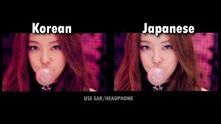 BLACKPINK - 'BOOMBAYAH' COMPARISON (Korean and Japanese)