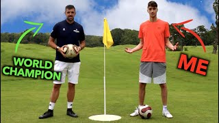 I challenged the NUMBER 1 Ranked FOOTGOLF Player to a Game without practice
