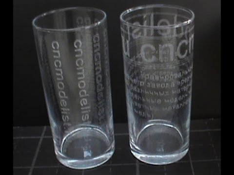 Декорирование стакана на фрезерном чпу. Гравировка по стеклу от Чпу Моделист.