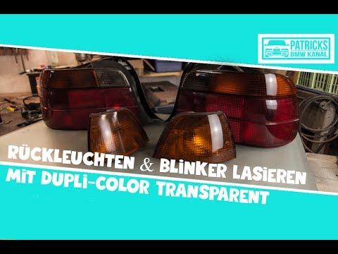 Rückleuchten & Blinker Lasieren Mit Dupli-Color Transparent