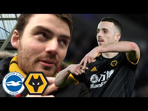 DIOGO DOUBLE DOWN SOUTH! Brighton Vs Wolves 2-2 Matchday Vlog