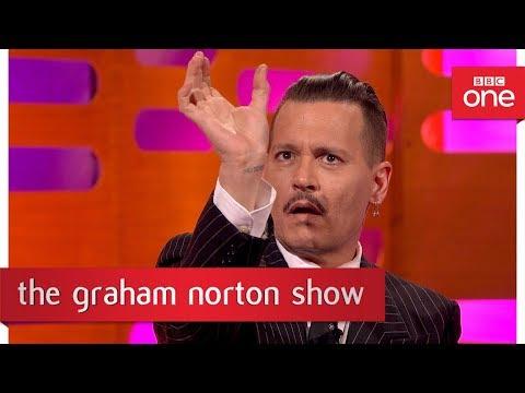 Johnny Depp dressed up as Jack Sparrow at Disneyland - The Graham Norton Show: 2017 - BBC One