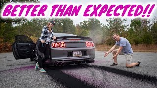 homepage tile video photo for Teaching my wife how to do a burnout!