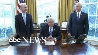 President Trump reacts to failed GOP health care bill