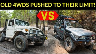 OLD 4WD CHALLENGE - Huge Rock Steps, Winching Chaos, And RIDICULOUS Beach Camping!