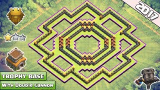 Updated Clash of Clans Town Hall 8 (TH8) Trophy Base With Double Cannon ♦ TH8 Ring/Circle Base 2017