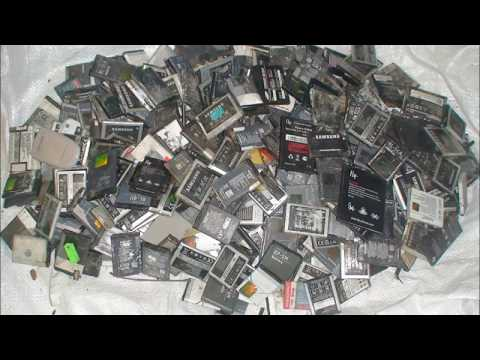 добываем золото из 400 мобильных аккумуляторов !
