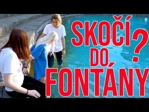 Kto skôr...skočí do fontány? w/Ria, Jarko