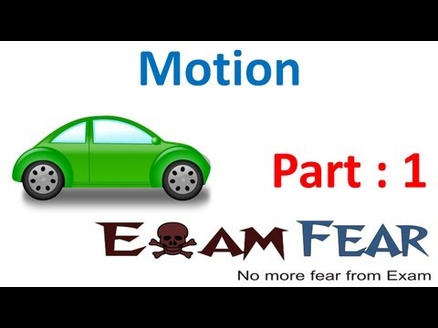 Physics Motion part 1 (Introduction Rectilinear & circular motion) CBSE class 9 IX