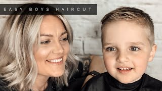HOW TO DO AN EASY BOYS SHORT HAIRCUT AT HOME
