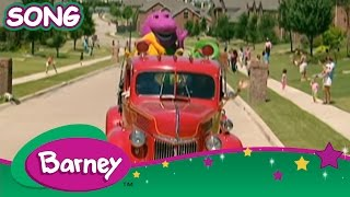 Barney - Here Comes The Firetruck (SONG with LYRICS)