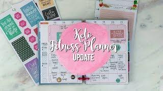 Keto Fitness Happy Planner | OMAD Food Journal | Keto Food Journal