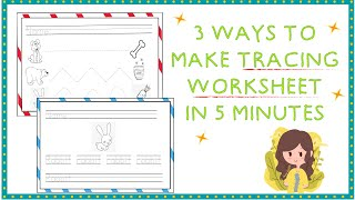 ✨ 3 Ways To Make A Tracing/Handwriting Worksheet In 5 Minutes ✨Super Easy