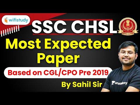 SSC CHSL2019 | Maths by Sahil Sir | Most Expected Paper