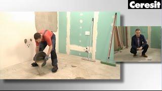 Příprava podkladu – pro podlahu při lepení dlažby s produkty Ceresit