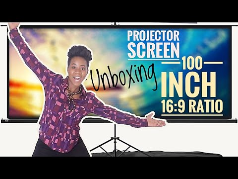 Unboxing PROJECTOR SCREEN 100inch   16:9 RATIO