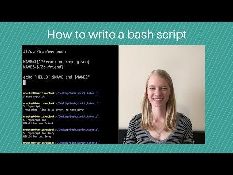 How to write a bash script
