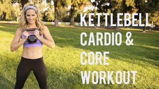 30 Minute Kettlebell Cardio Core Workout--Blast Fat and Sculpt Abs by BodyFit By Amy