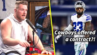 Pat McAfee Reacts To LeBron Saying He Was Training For The NFL