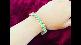 Dainty Simple Beaded Bracelet || How to make Beaded Bracelet || DIY Beaded Bracelet