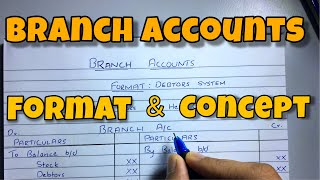 Branch Account - Format & Concept - Financial Accounting - By Saheb Academy