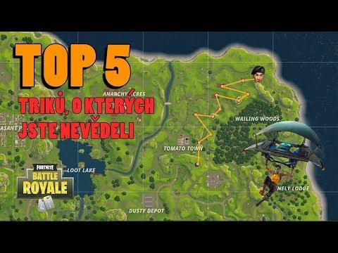 TOP 5 triků, o kterých jste nevěděli│Fortnite: Battle Royale