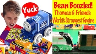 Thomas & Friends Minis And Gavin Play Bean Boozled - World's Strongest Engine Toy Train Fun