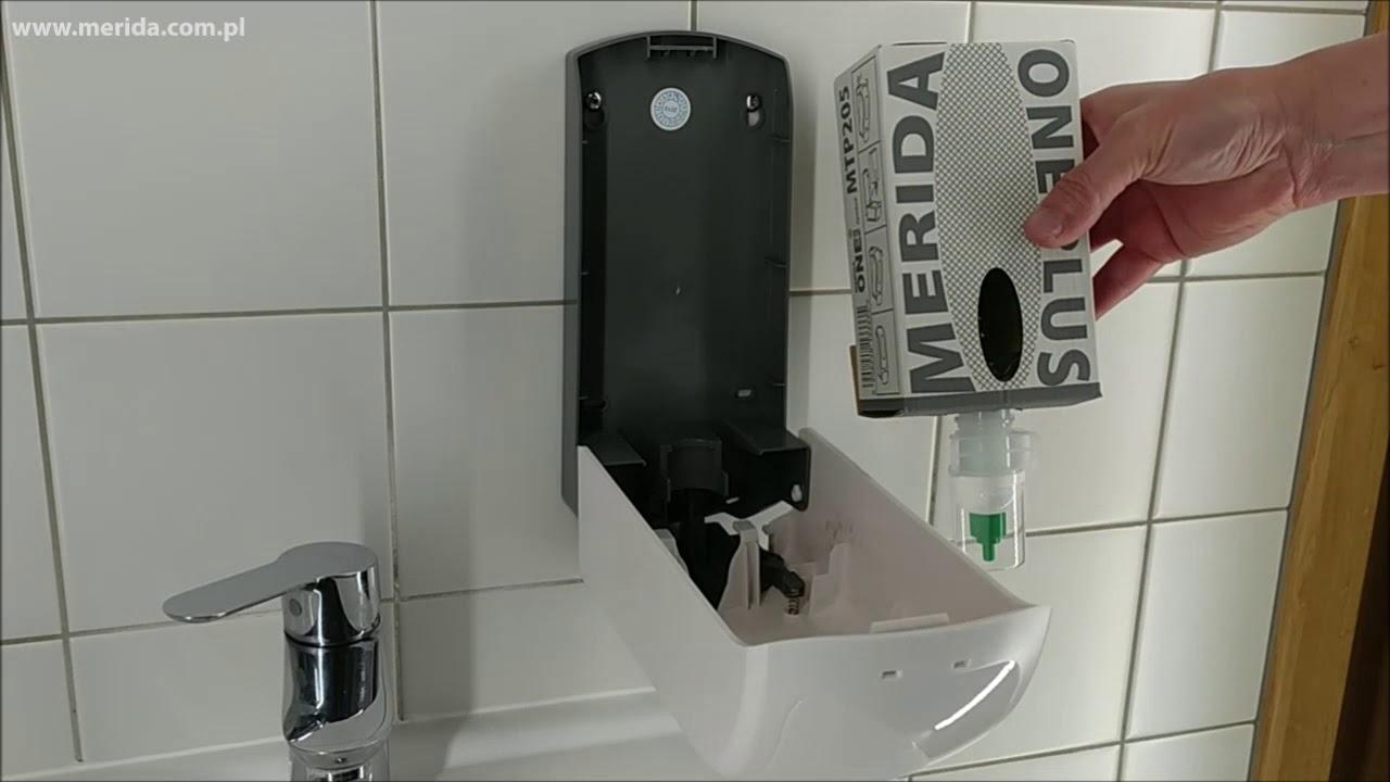 Dozownik mydła w pianie MERIDA ONE na wkłady z mydłem ONE PLUS, biały