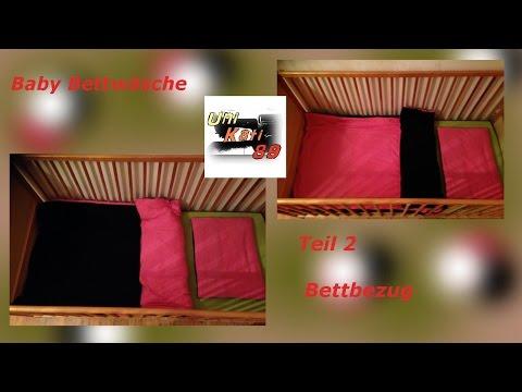 Baby Bettwäsche nähen Teil 2 Bettbezug mit Hotelverschluss Schnittmuster #UniKati89