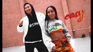 DaniLeigh   Easy (Remix) Ft. Chris Brown Dance Choreography By Hu Jeffery