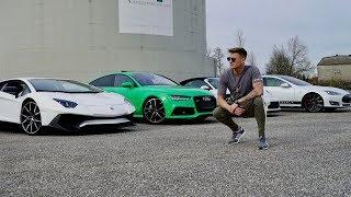 RS7 vs Lambo vs Porsche vs Tesla   Ksfreakwhatelse   Dragrace!