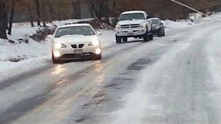 Ice And Snow Car Crash Compilation #33 - Black Ice !