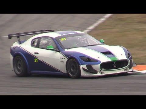 Maserati Granturismo MC GT4 in Action at Monza Circuit