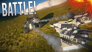 MOBILE BASE ASSAULT!! - Space Engineers BATTLE!