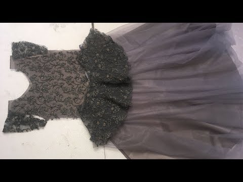 DESIGNER LONG GOWN CUTTING AND STITCHING PART-1