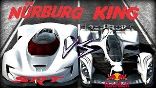 Gran Turismo 6 | SIDE by SIDE KING of the RING Battle! (SRT Tomahawk X VS Red Bull x2014 Fan Car)