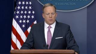 Spicer Repeats Claim That Trump Inauguration Was Most-Watched Ever