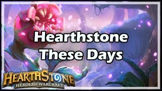 [Hearthstone] HS These Days