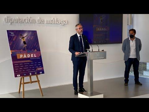Presentación de la I Copa Provincial de Pádel Diputación de Málaga