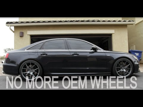 Verde Axis V99's on the C7 Audi S6 No more factory wheels!!!