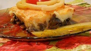 Картофельная запеканка с грибами. Рецепт