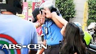 TV Patrol: MMDA enforcer hinataw ng helmet ng motorista